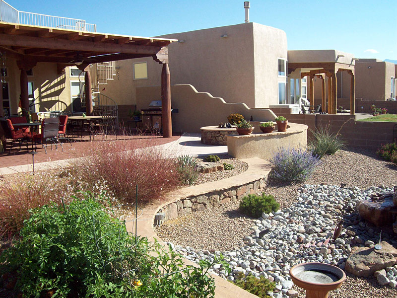 Residential Landscaping Albuquerque : Residential landscaping increased privacy from which to enjoy