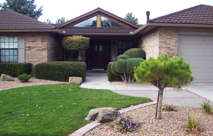 Paring down lawn for less maintenance and xeriscape rebate
